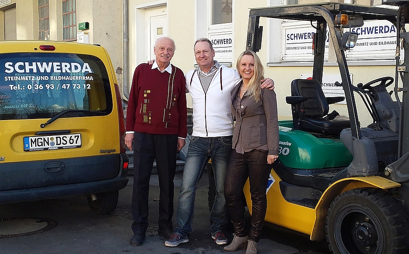 Drei Generationen im Unternehmen: Steinmetz Schwerda, Meiningen